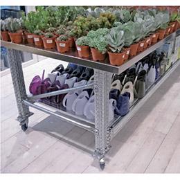 Mesas de Trabajo TS con ruedas y estante. Imagen #2