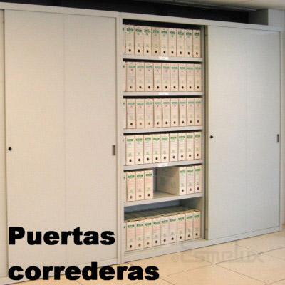 Estanterias Metalicas Oficina.Puerta Corredera Para 2 Modulos De Frente