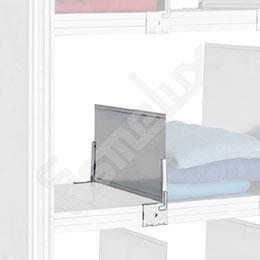 Conjunto separador estantes BAJO 320x100 movible