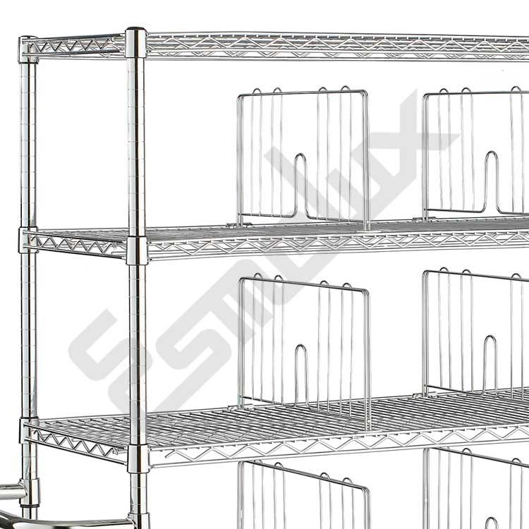 Separador de estante cromado. Imagen #1