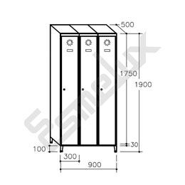 Taquilla Soldada 1 puerta por columna - 300 mm. Imagen #6