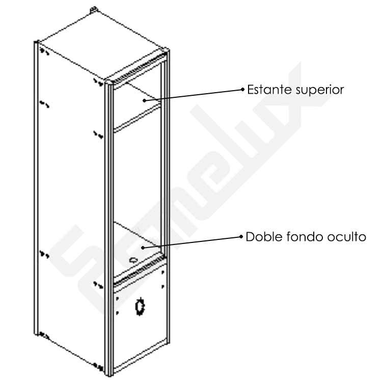Taquillas modulares con banco incorporado. Imagen #3