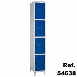 Taquilla Soldada 4 puertas por columna - 300 mm. Imagen #1