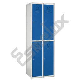 Taquillas Serie 2 con 2 columnas, 2x2 = 4 puertas