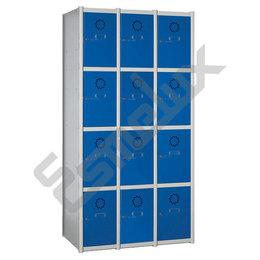 Taquillas Serie 4 con 3 columnas, 4x3 = 12 puertas