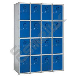 Taquillas Serie 4 con 4 columnas, 4x4 = 16 puertas