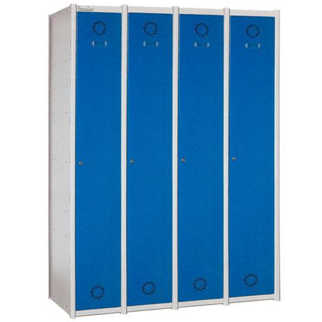 Taquilla de vestuario modular en acero 1 x 4
