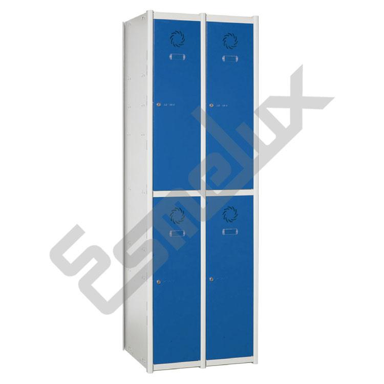 Taquillas Serie 2 con 2 columnas, 2x2 = 4 puertas. Imagen #0