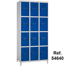 Taquilla Soldada 4 puertas por columna - 300 mm. Imagen #5
