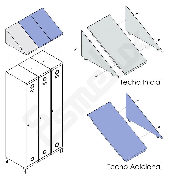 Techo inclinado para taquillas. Imagen #1