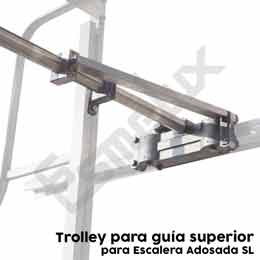 Escalera  adosada SL con plataforma y ruedas. Imagen #3