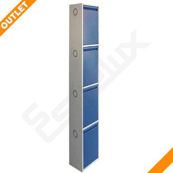 Zapatero Metálico de 4 puertas azules OUTLET