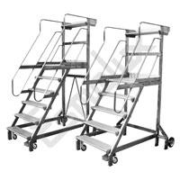 Escalera SRN de plataforma con ruedas y estabilizadores