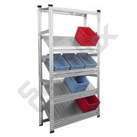 Expositor Galvamil con estantes inclinados